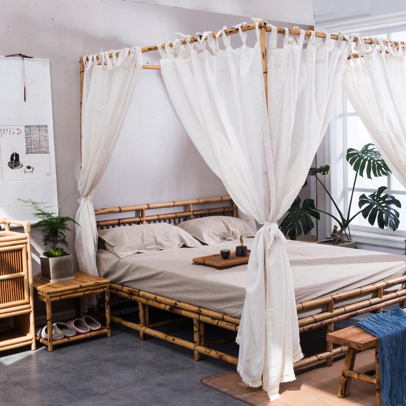 Новые товары японский бамбук виноградная лоза одноместный людская кровать охрана окружающей среды спальня люди ночь отели алтарь смысл мебель современный простой кровать специальное предложение