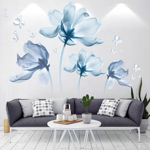 3D立体墙贴纸卧室床头沙发墙面装饰贴画房间温馨背景墙画自粘贴花