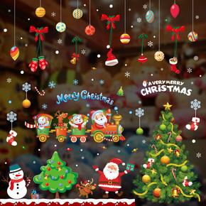 圣诞节墙贴 店铺橱窗装饰房间墙壁玻璃门