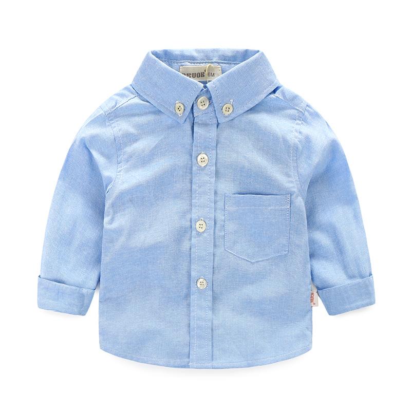 嬰幼兒男寶寶春秋兒童襯衣