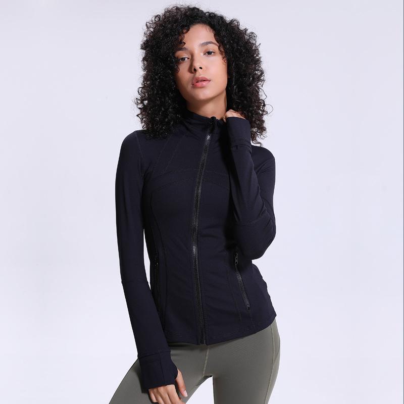 出口欧美lu单 修身显瘦瑜伽服 DF夹克运动健身外套长袖秋冬外穿女图片
