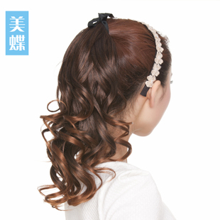 Meidie pear volume ponytail wig scroll fake pony tail wig tied in style long hair short ponytail hair extension piece