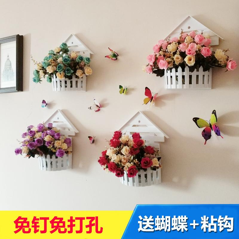 田园装饰墙上挂件饰品创意墙面装饰客厅挂件壁挂花盆墙饰挂壁装饰