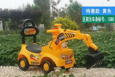 挖掘机挖土机可坐可骑大号儿童玩具车工程勾机宝宝脚踏滑行挖挖机
