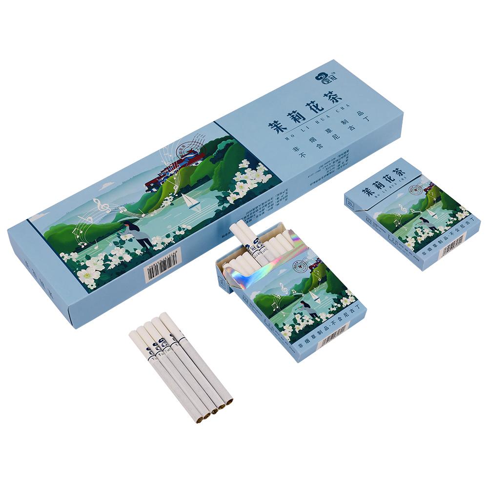 Qingfei Runfei health care tea smoke cigarette jasmine flavor tea smoke for men and women