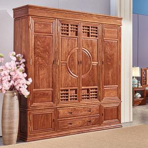 红木家具衣柜花梨木中式顶箱柜卧室全实木储物柜刺猬紫檀欧式衣橱