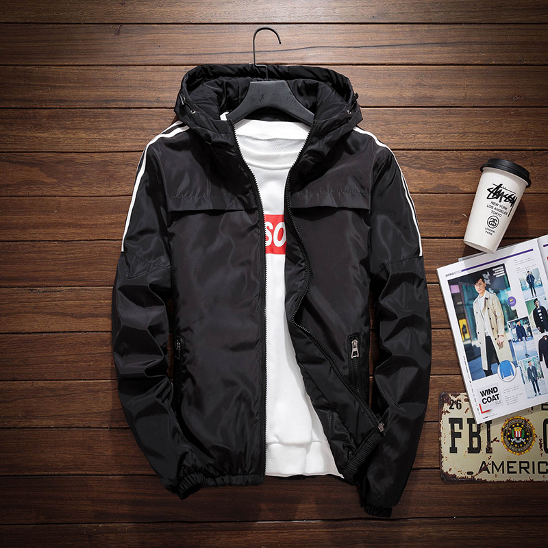Winter new mens thin cotton jacket Plus Size Fashion Sports Youth Students two cotton jacket jacket