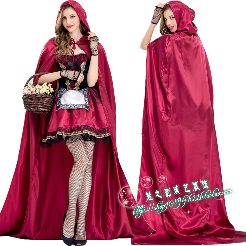 Halloween Adult Little Red Riding Hood Cosplay fat costume Queen Fairy Tale performance Costume