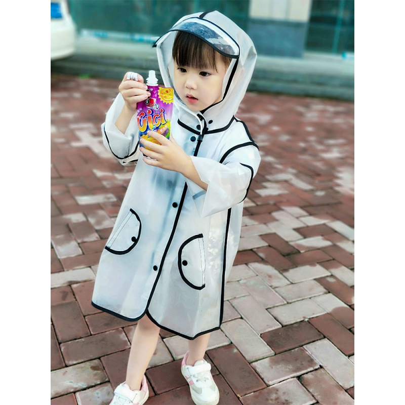 Childrens raincoat girl kindergarten baby boy 3-year-old child child transparent protection primary school student waterproof poncho