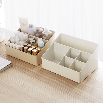 Desktop cosmetic storage box lipstick skin care products remote control sundries dressing table makeup box student dormitory finishing
