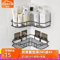 不锈钢脸盆架多层落地式三角架卫生间置物架浴室厨房转角收纳架子