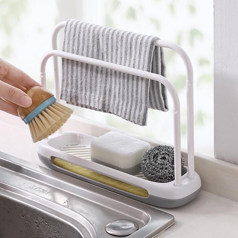 水槽台面抹布架厨房用品家用收纳架