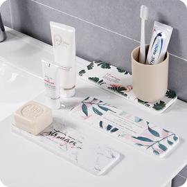 浴室硅藻泥吸水垫洗手台洗漱垫硅藻土杯垫小防水垫牙刷垫肥皂垫