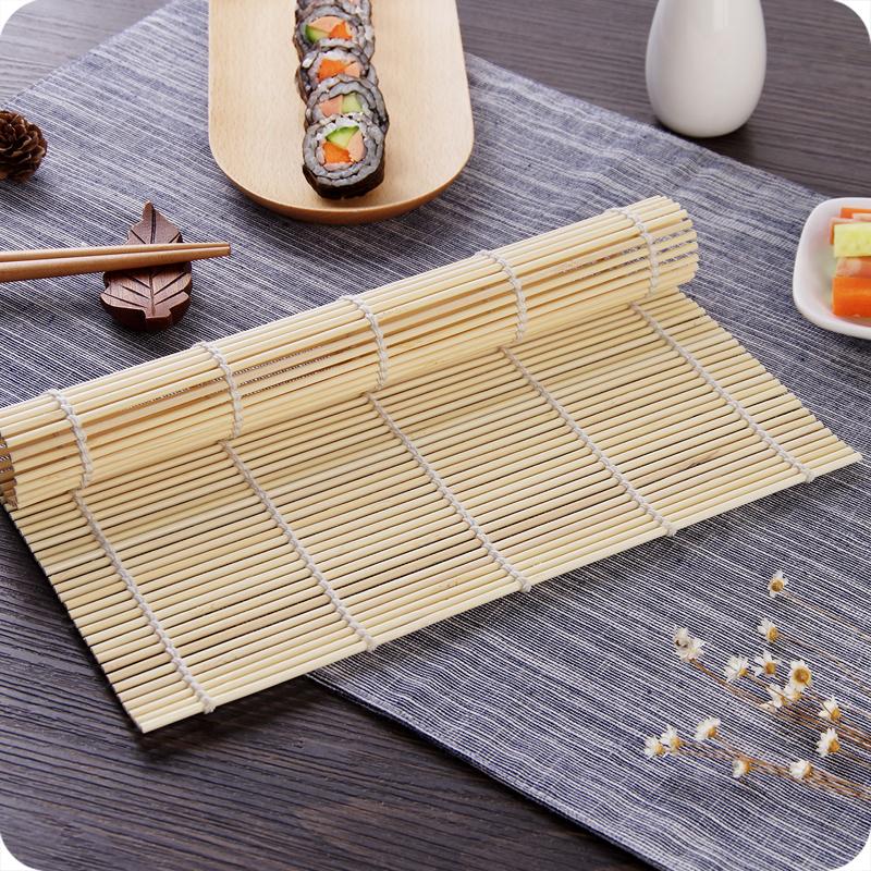 日式竹制寿司帘紫菜包饭竹帘寿司卷帘竹帘家用制作寿司料理工具