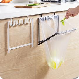 优思居橱柜门挂式垃圾袋支架挂钩厨房塑料袋挂架分类垃圾桶垃圾架