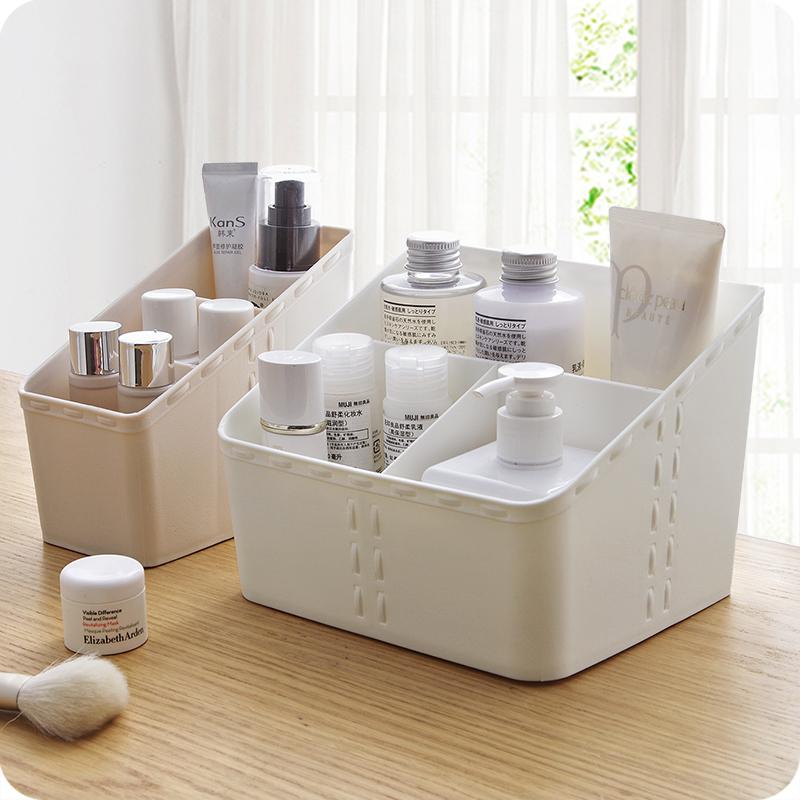 优思居 梳妆台化妆品收纳盒 桌面文具分类整理盒化妆刷收纳储物盒