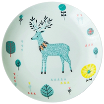 Western plate dish ceramic cute dish tableware set cartoon childrens creative breakfast plate household steak tray