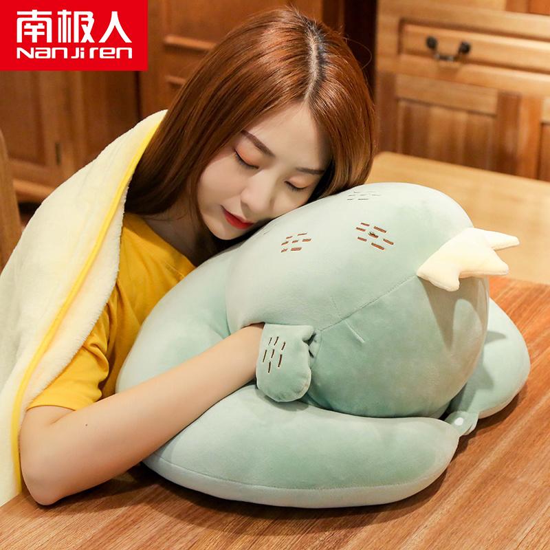 办公室午睡神器学生午休睡觉趴趴枕男女款暖手抱枕手捂趴桌上睡枕
