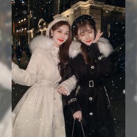 张心子棉衣棉服女中长款女装冬装2019新款潮冬季修身加厚棉袄外套