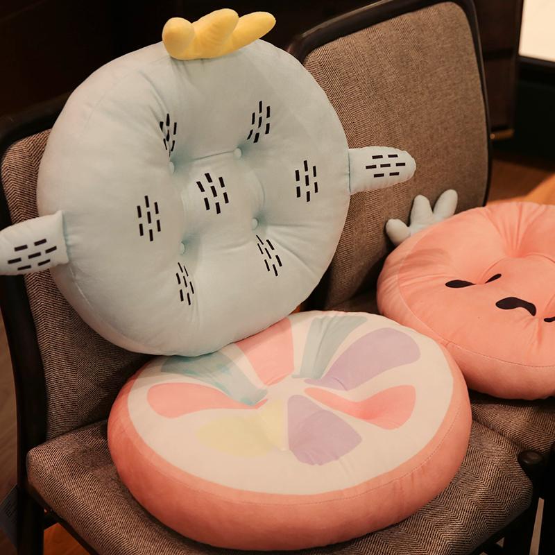 学生教室坐垫办公室椅子垫秋冬季榻榻米毛绒加厚坐垫椅垫屁股垫子