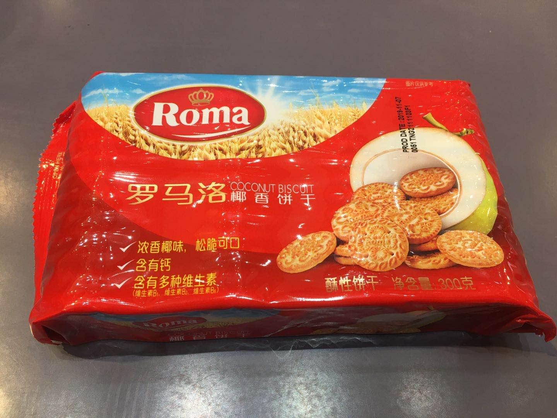 印尼进口网红零食罗马洛椰香饼干300g 4包起包邮