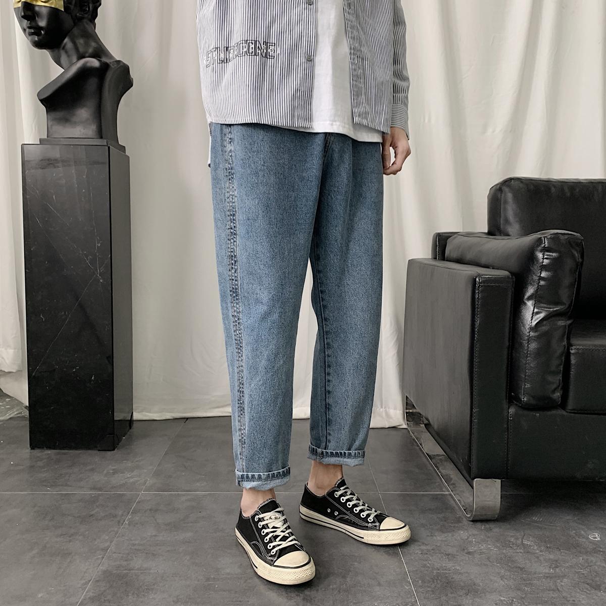 秋季港风潮男韩版修身小脚牛仔裤休闲裤精品NK8901A-P55-控69