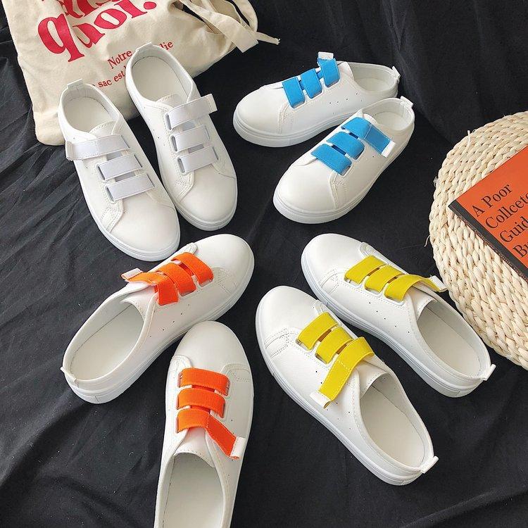 2019夏季新款包头拖鞋女韩版防滑外穿百搭平底单鞋半拖小白鞋女潮(非品牌)