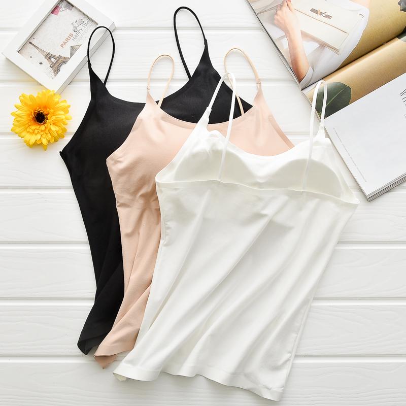 纯棉bra-top带胸垫打底防走光裹胸(非品牌)