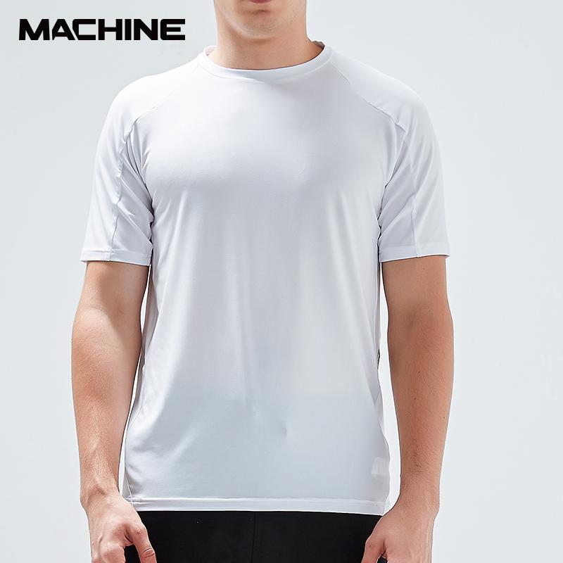 Machine mens comprehensive training series high elastic sports fashion short sleeve T-shirt swt052