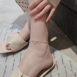 ins潮网红925纯银气质简约个性圆环脚链女冷淡风小众设计感脚饰品图片