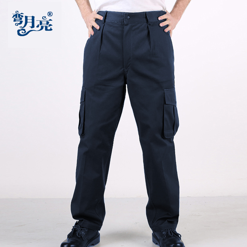 Spring and autumn work pants mens work clothes pants auto repair labor protection pants electric welder pants mens and womens Multi Pocket wear resistant pants