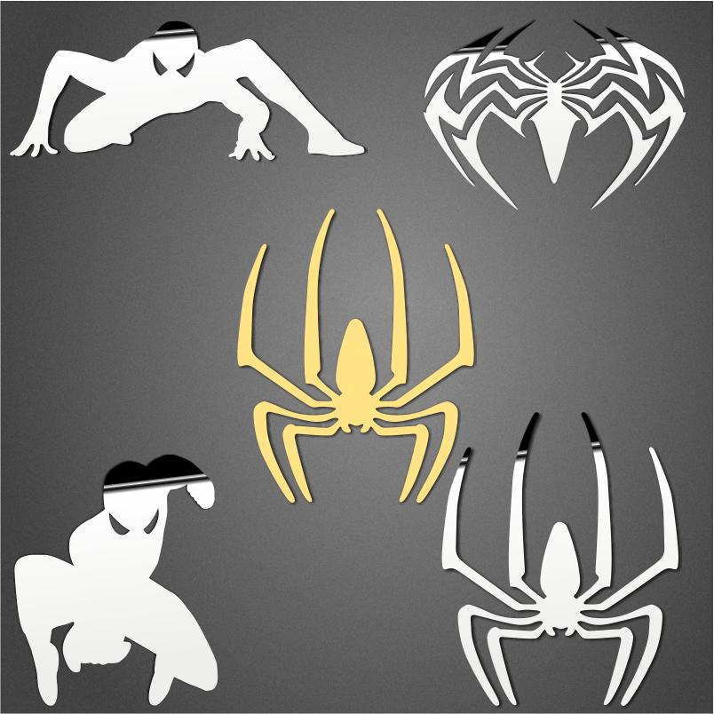 蜘蛛侠明星金属镀金贴 手机电脑防辐射贴纸通用 满9元免邮