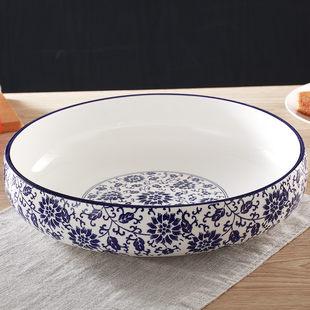 广东 潮州青花瓷水煮鱼碗汤碗大碗酒店用大号陶瓷汤碗酸菜鱼盆汤盆大码菜碗
