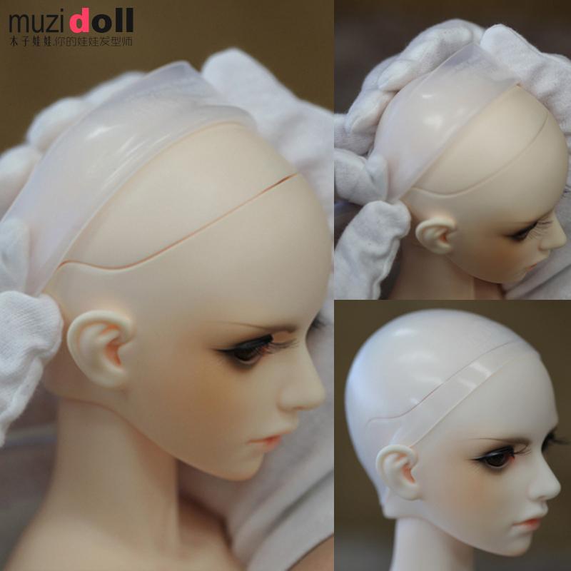 福娃辣妈bjd三分4分6分8分12分可儿头套娃娃用硅胶防染色固定假发