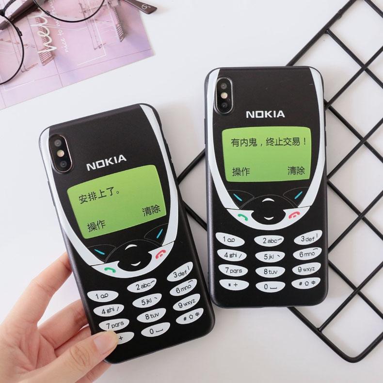 苹果手机壳软壳x/xr/7/8/6s/5s/plus/iphone11 pro/Xs/Max se 6p创意恶搞5复古怀旧诺基亚图案安排上了趣味薄