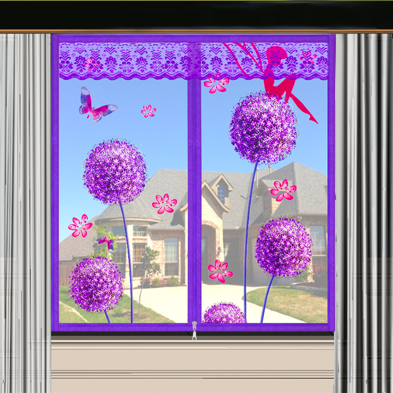 防蚊子纱窗纱网自粘式磁铁门帘魔术贴磁性窗户沙窗帘拆卸自装家用