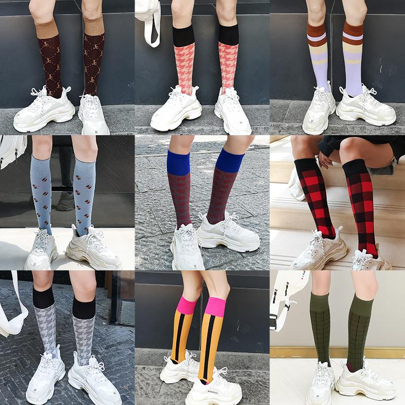 小腿袜女夏季薄款日系潮ins长袜街头春秋瘦腿半高筒长筒袜子网红