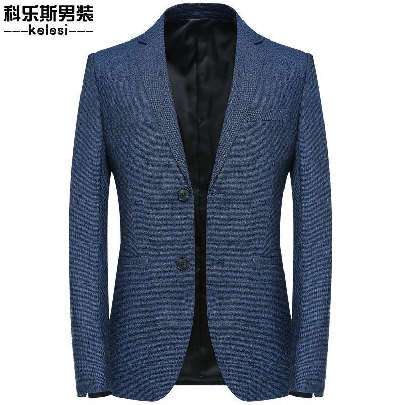 New business mens suit casual fashion Blazer Blue Formal slim coat jacket