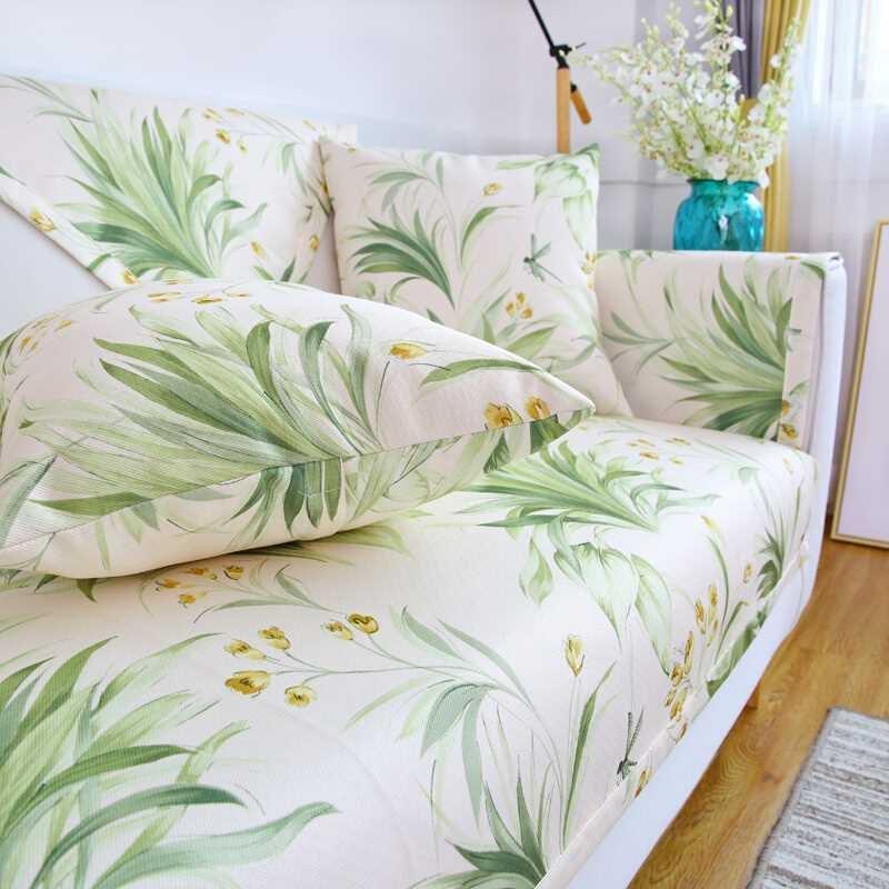钟爱一生夏季沙发垫套装夏天沙发凉席坐垫子冰丝防滑沙发巾罩全包