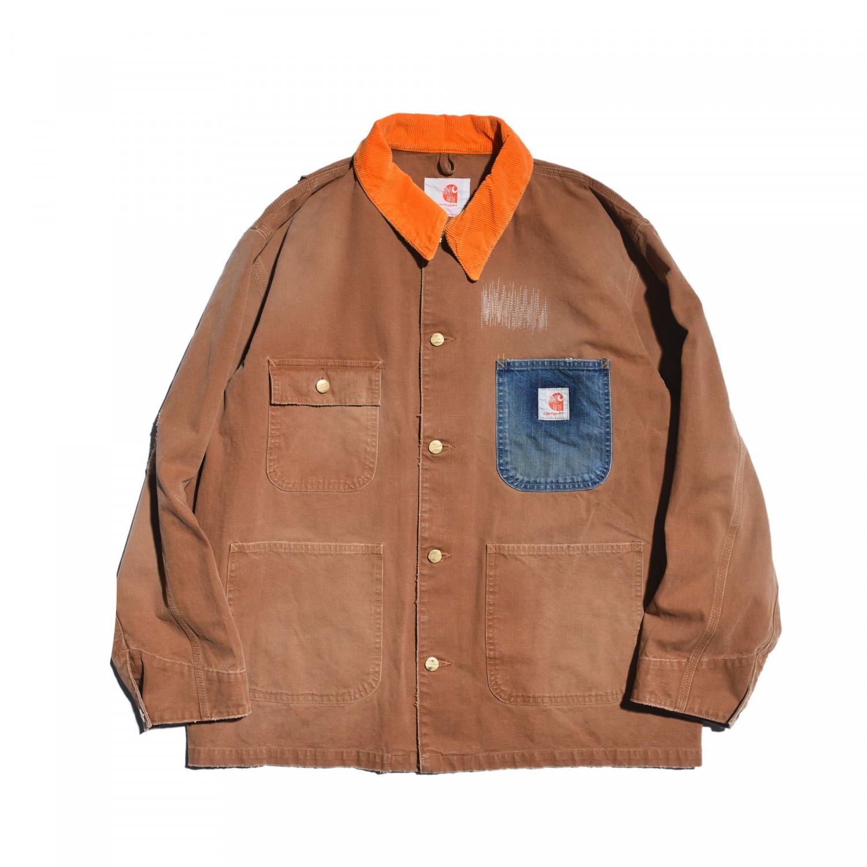 RT 新款MADNESS x CAR 五周年联名限定 工装水洗做旧帆布夹克