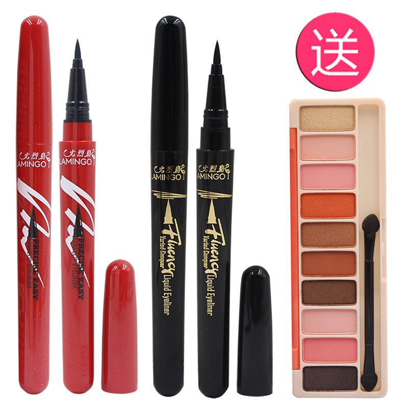Real Flamingo eyeliner, changeable eye liner, water brush, quick dry, waterproof, no stain, hard head Li Jiaqi recommended.