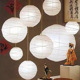 日式古风灯笼和风奶白色交叉圆形纸灯笼纸吊灯罩婚庆灯饰手工纸灯图片