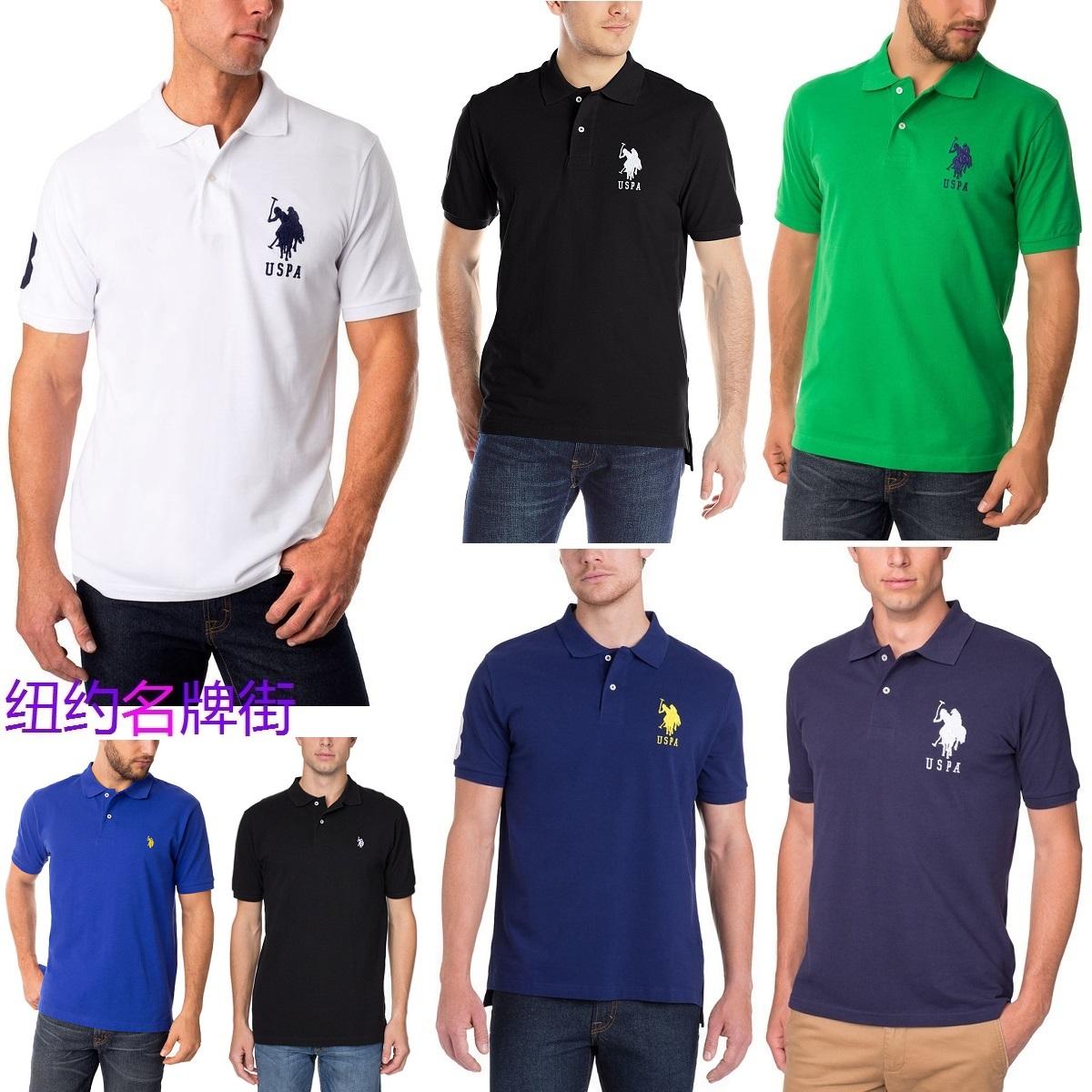 Polo shirt U.S. Polo Assn. new Polo logo Summer Cotton mens T-shirt