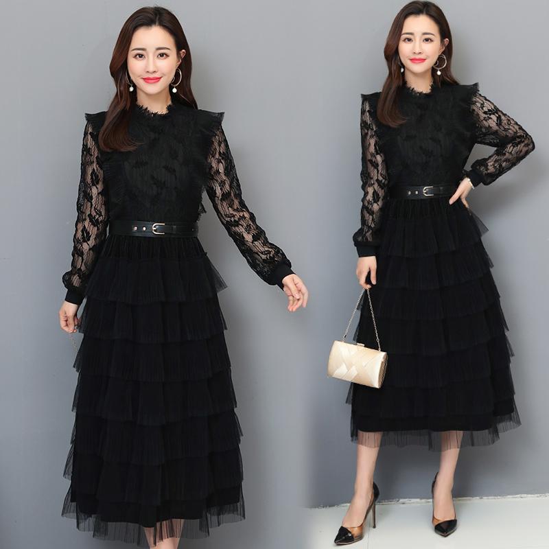 10月09日最新优惠2019春季新款气质修身显瘦连衣裙子