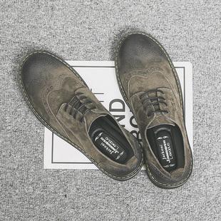 秋季韩版真皮工装低帮百搭小马丁靴