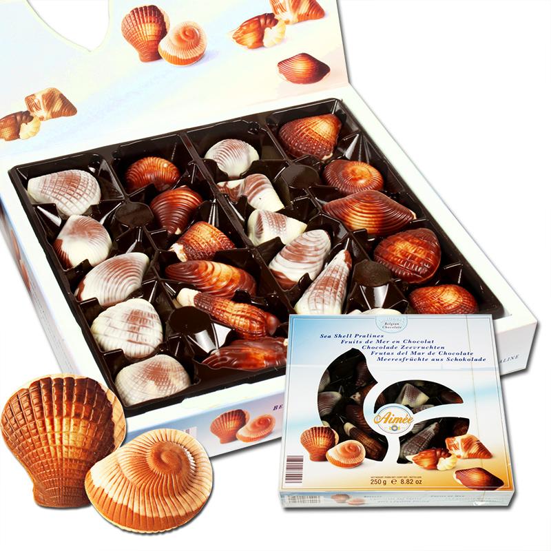 比利时GuyLian吉利莲埃梅尔贝壳巧克力礼盒 进口生日节庆礼物零食