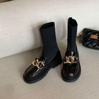33码32小码女鞋313233女31秋季34冬新款靴30皮鞋秋冬短靴春秋靴子