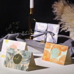 员工生日贺卡祝福感恩节日创意情书卡片圣诞节贺卡新年祝福卡片创意迷你婚礼感谢卡折叠贺卡带信封