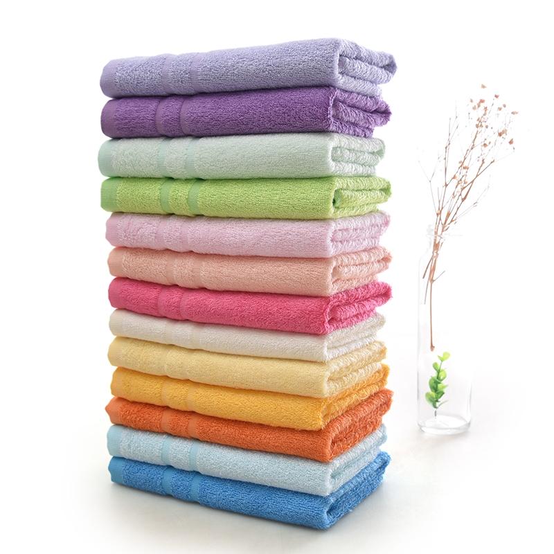包邮六条装堡纳儿童小毛巾女士中巾标准成人毛巾丝竹纤维竹浆
