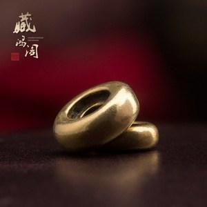 藏式纯黄铜素面复古做旧厚隔片垫片金刚星月菩提佛珠手串手链配饰